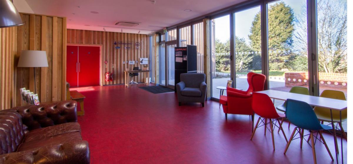 interior of red rose chain theatre in ipswich